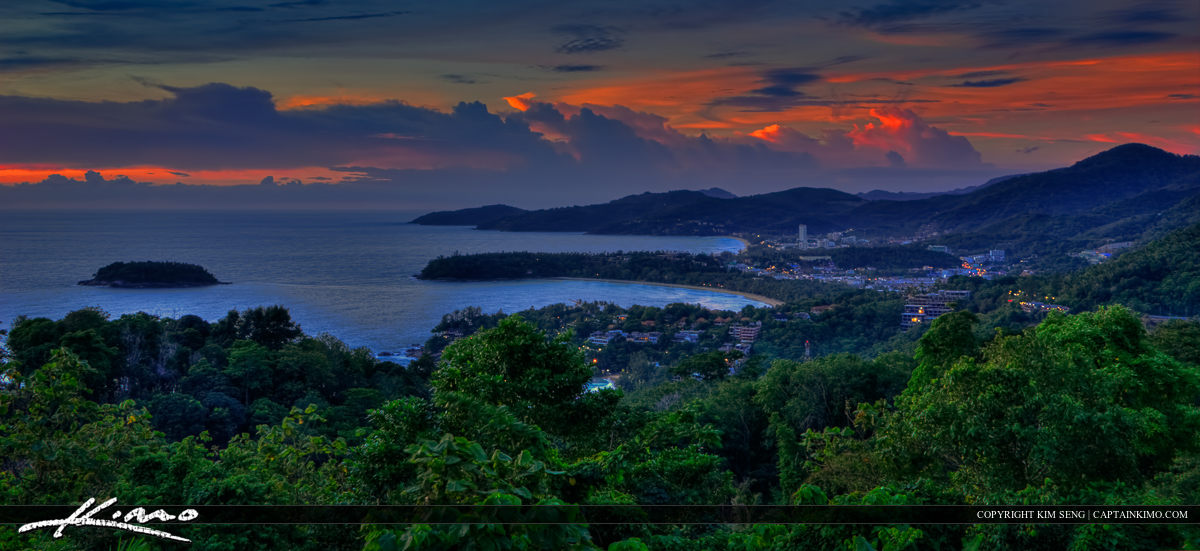 Mountain Overlooking Kata Beach Patong Beach Phuket Thailand