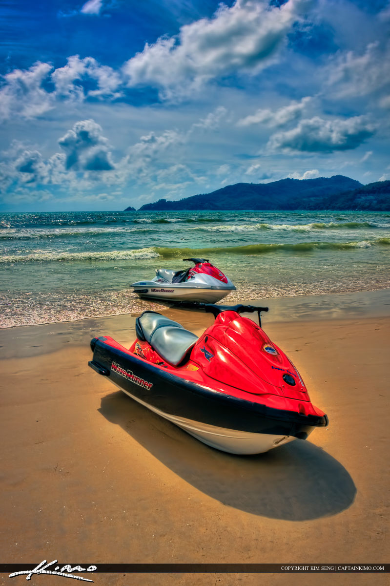 Jet Skies from Patong Beach in Phuket Thailand