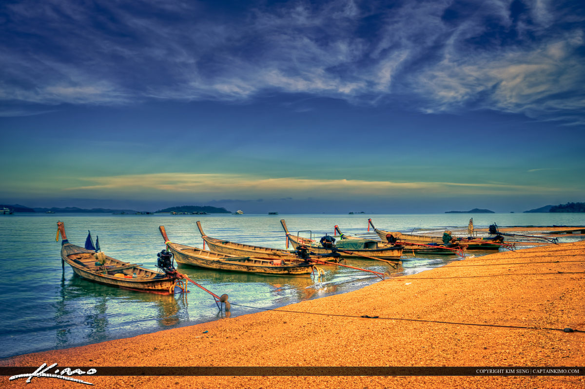 Fishing Boats from Local Thai Village at Ao Po