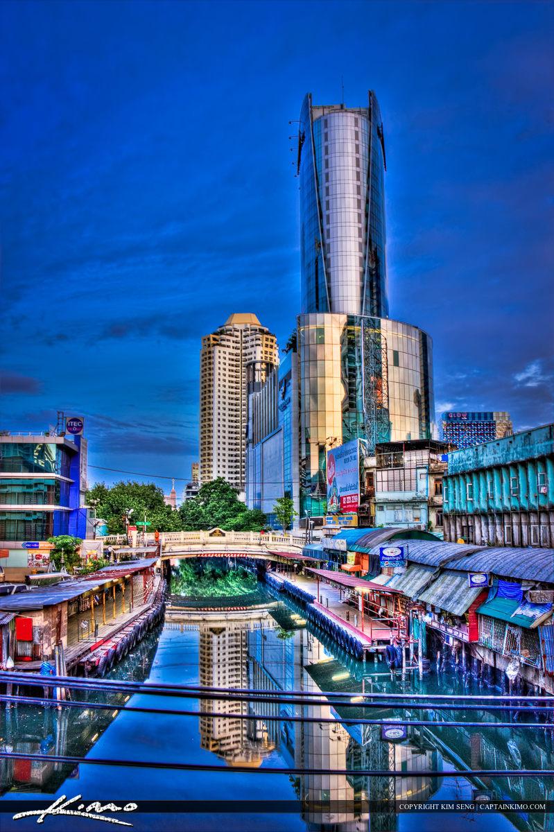 Canal at Downtown Bangkok with Paladium Mall