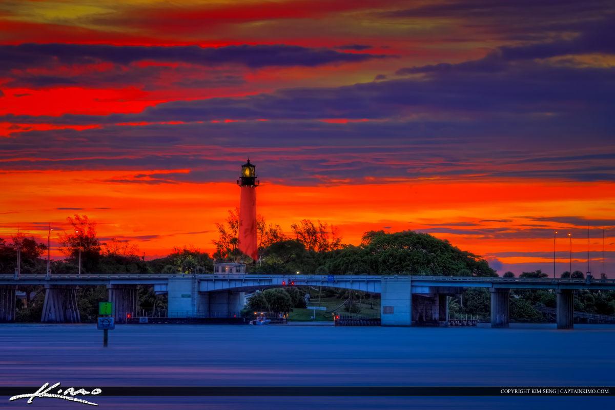 Jupiter Inlet Lighthouse Sunrise at Waterway