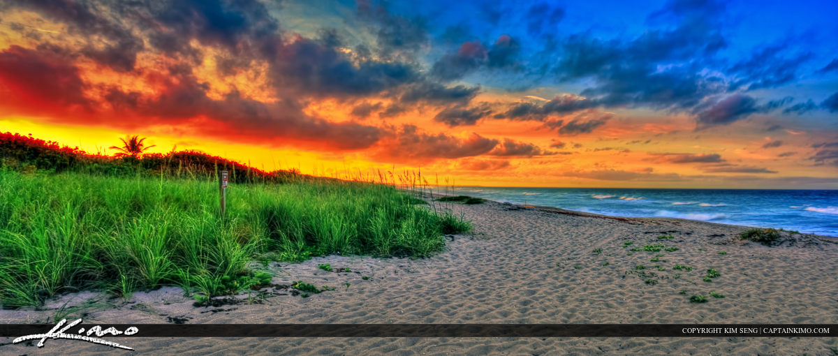 Beautiful Sunset Over Hobe Sound Beach Preserve Florida