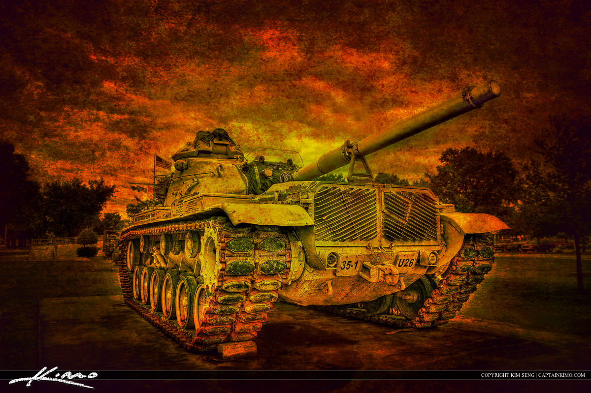 Old World War Tank Textured Photo Art
