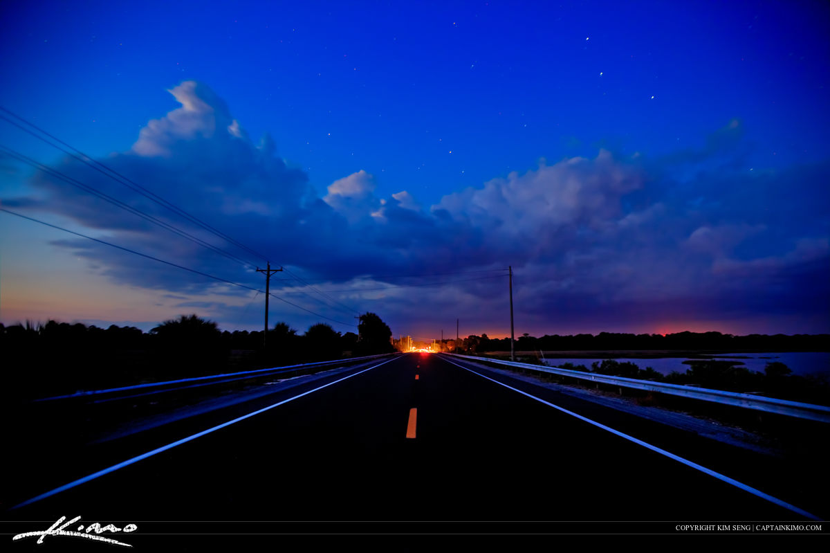 Cedar Key Florida Road Back to Civilization