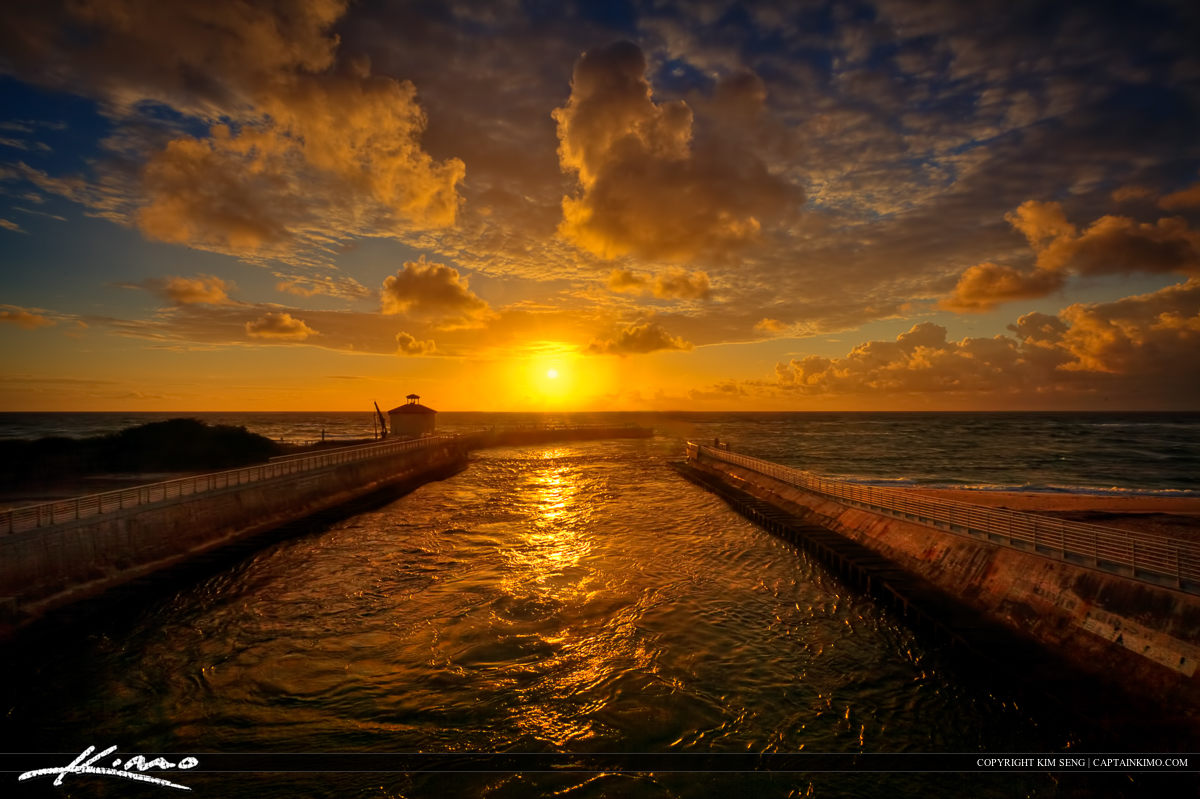 Boynton Beach Ocean Inlet at Sunrise Palm Beach County Florida