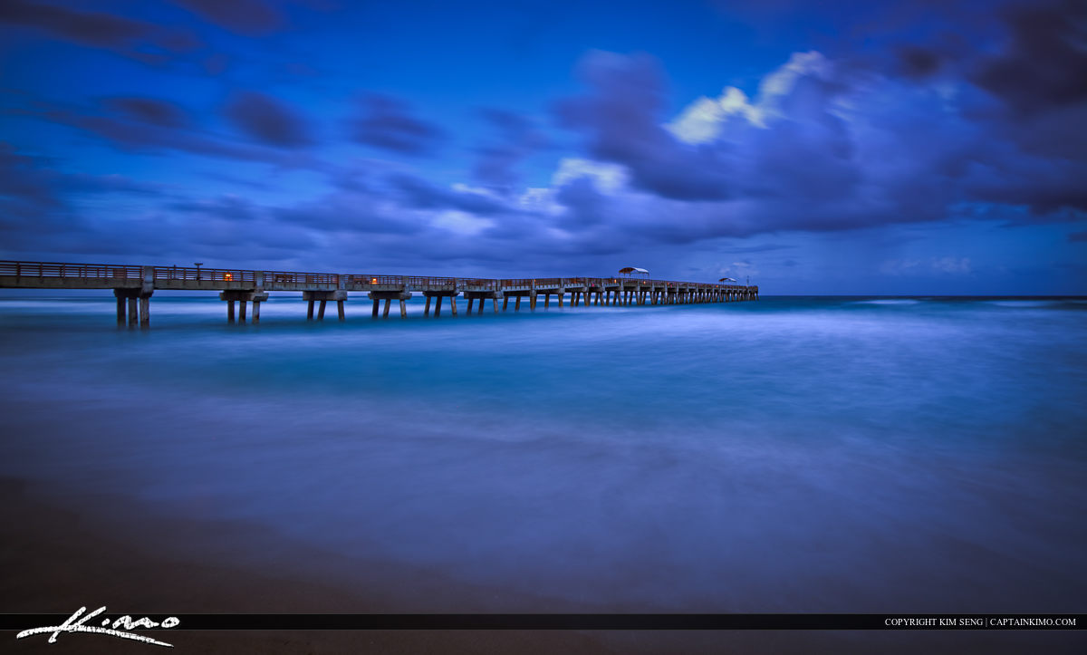 Lake Worth Fishing Pier Storm Clouds