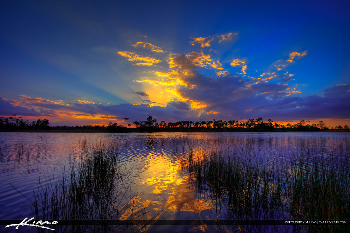 Hungryland WMA Slough Jupiter Farms Florida Sunset