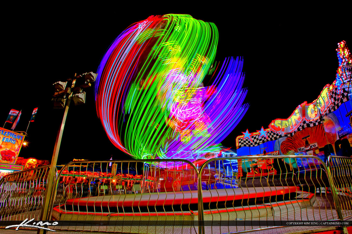 Crazy Spinning Ride at the South Florida Fair