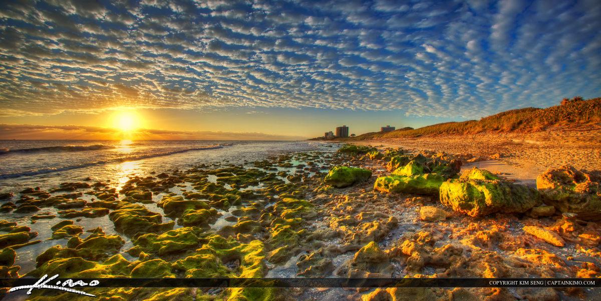 Sunrise Panoramic Coral Cove Park Beach RockS