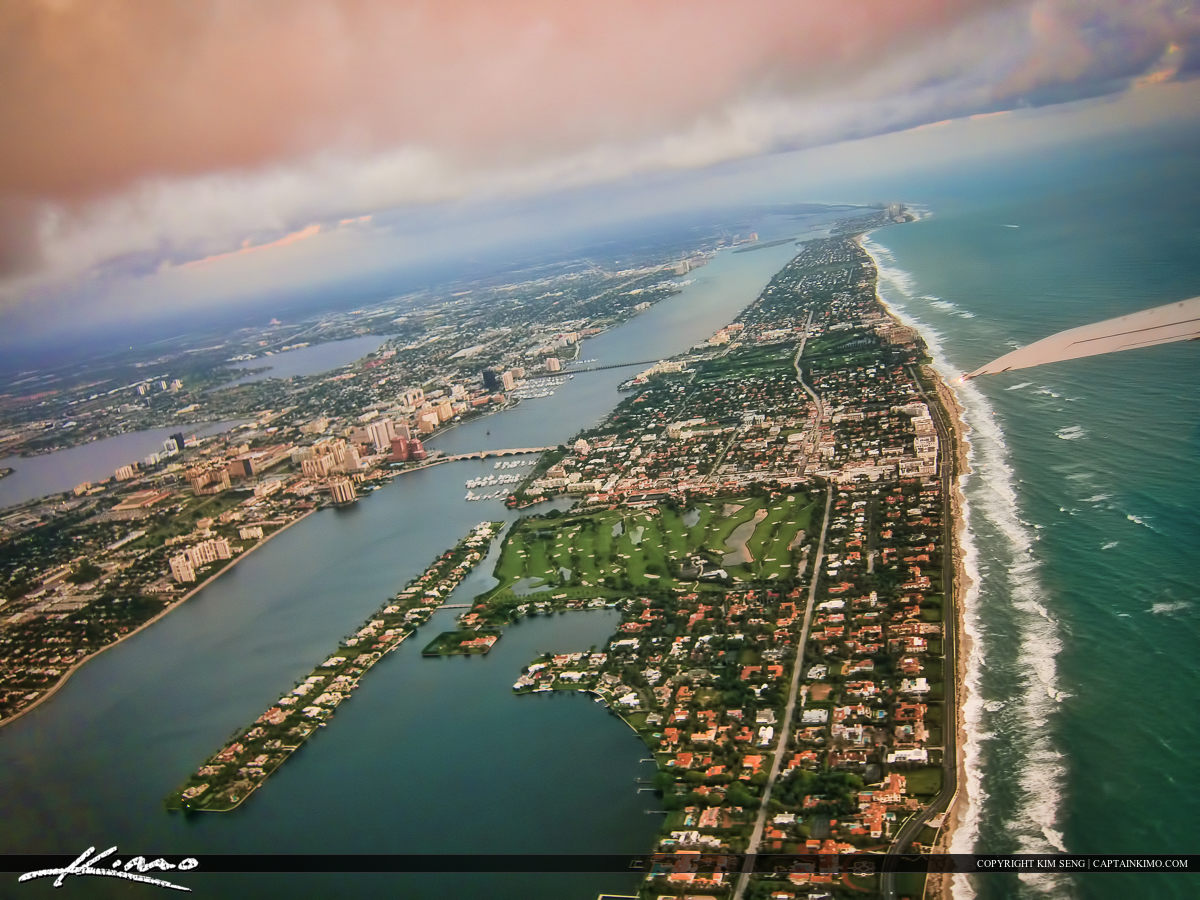 West Palm Beach Aeria Photo from Plane