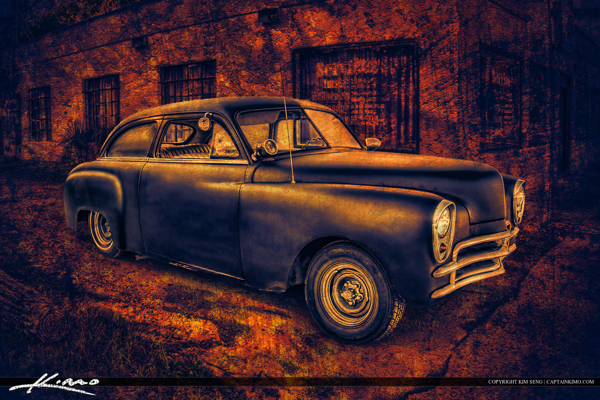 Old Black Car from Gainsville Florida
