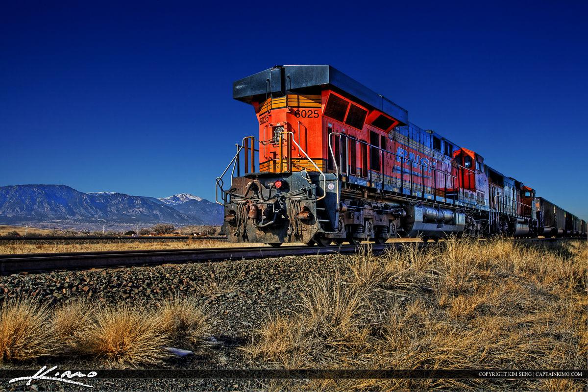Colorado Rocky Mountain Train Pikes Peak