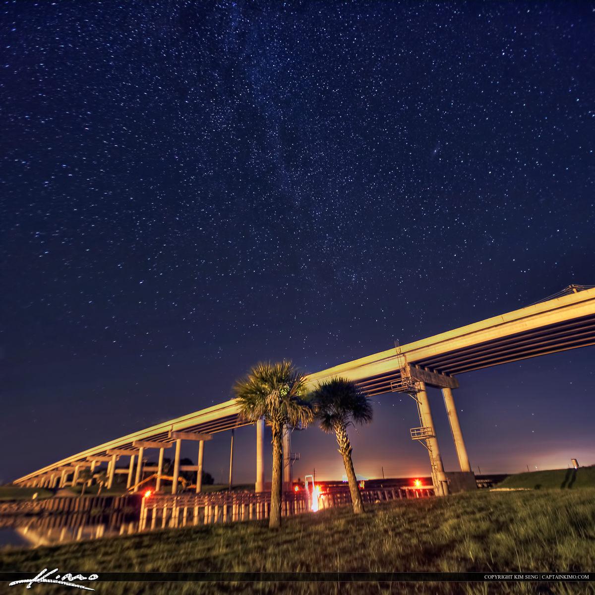 Port Mayaca Bridge Okeechobee Lake Underneath Star