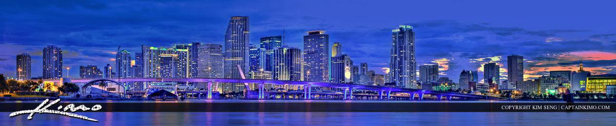 Miami Skyline Downtown City Photo Panorama