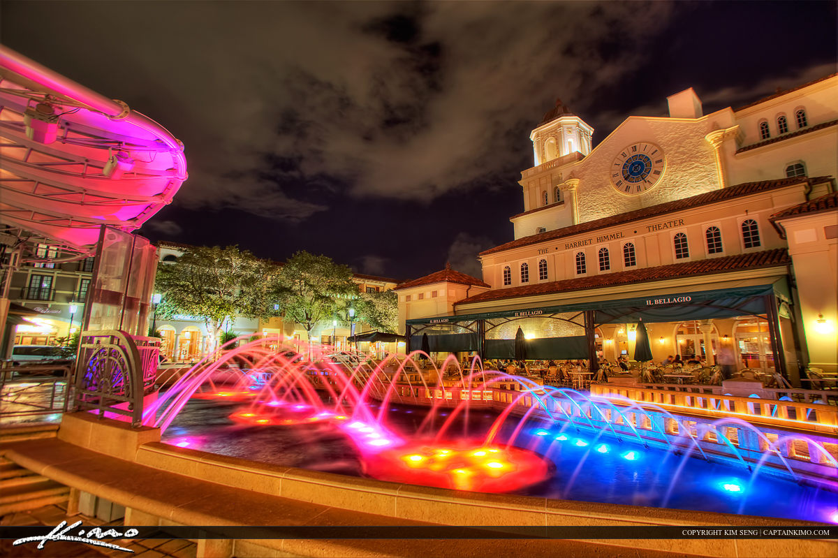 Cityplace West Palm Beach Downtown Building Nighttime