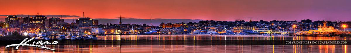 Portland Maine City Skyline Panorama Original