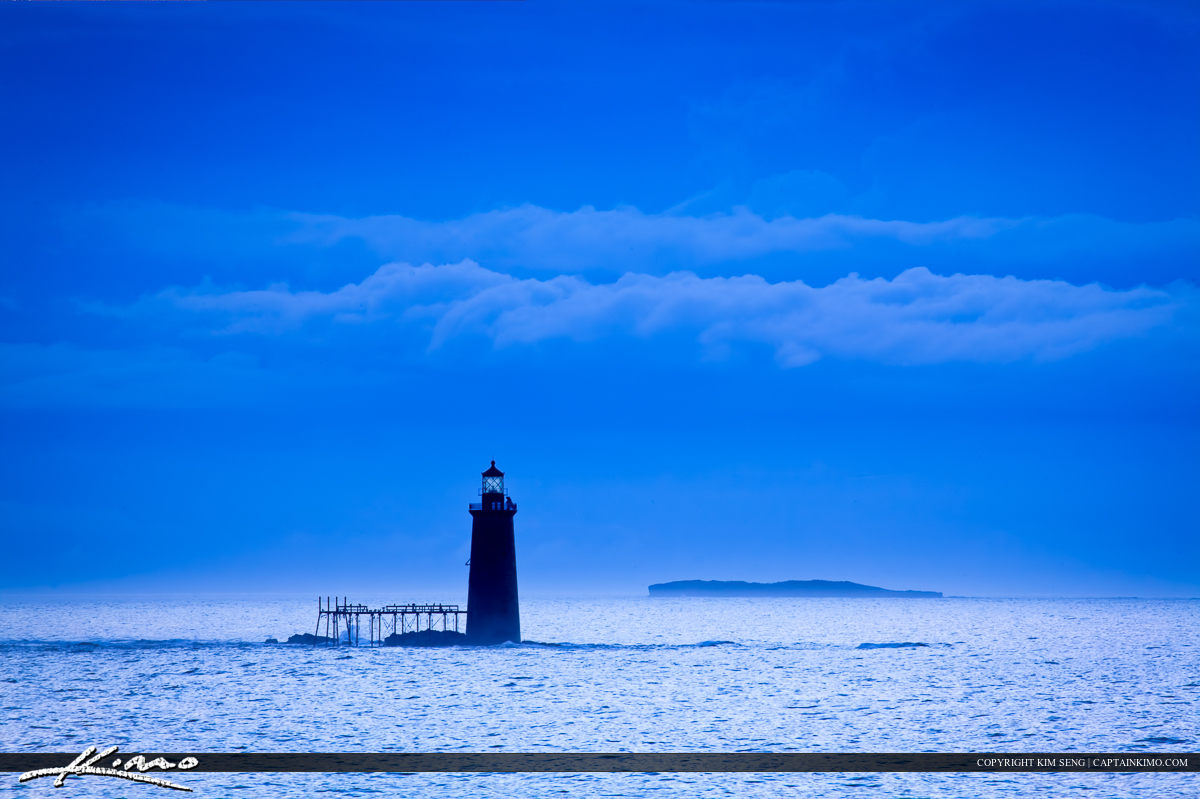 Ram Island Lighthouse in Cape Elizabeth Portland Maine