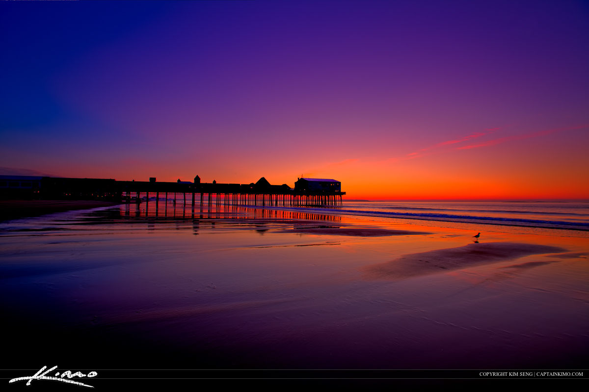 The Pier at Old Orchard Beach Maine Before Sunrise