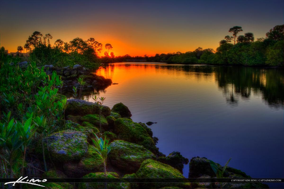 Sunset at the Limestone Creek River in Jupiter Florida