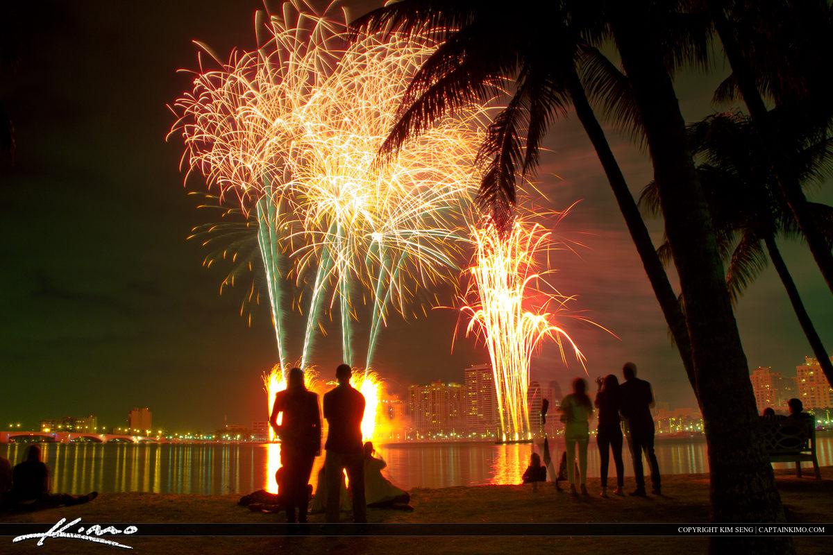 New Years Day 2013 Fireworks Show West Palm Beach