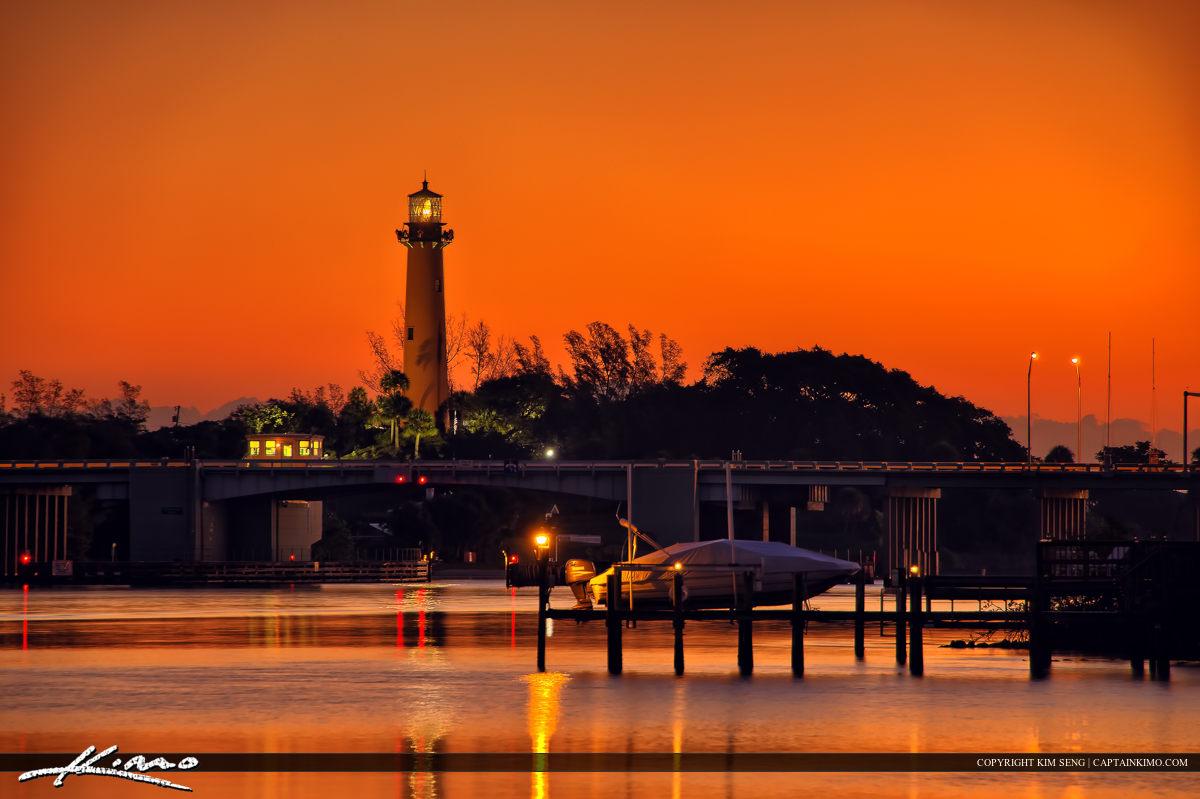 Jupiter Lighthouse Before Sunrise at Sawfish Bay Park