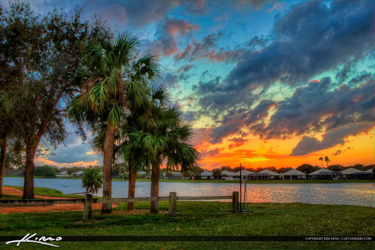 Lake Catherine Park During Sunset at Palm Beach Gardens