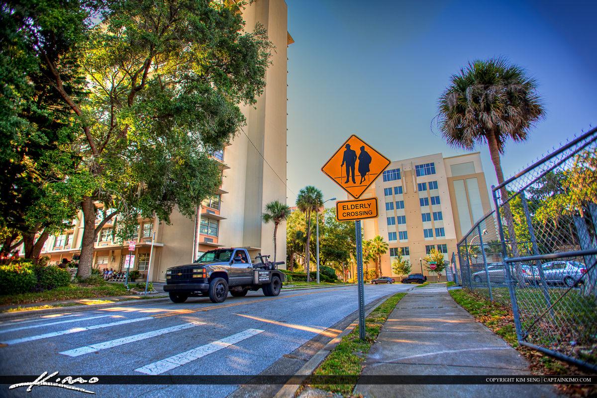 Elderly Crossing Sign in Orlando Florida