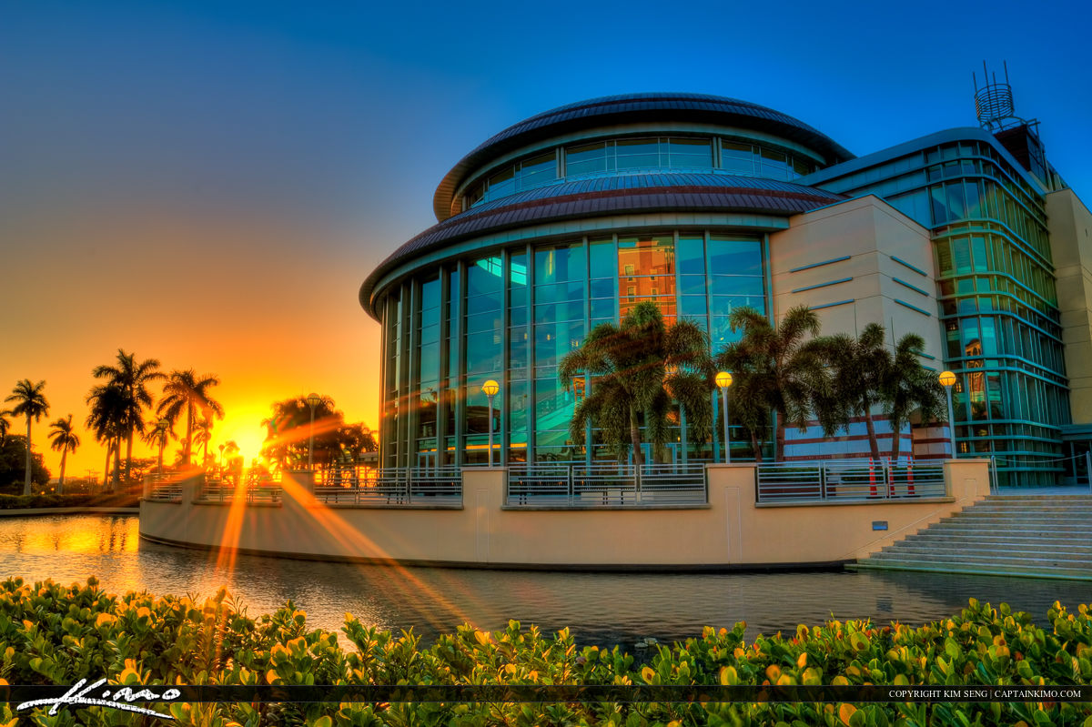 Sunset at the Kravis Center of the Performing Arts West Palm Beach