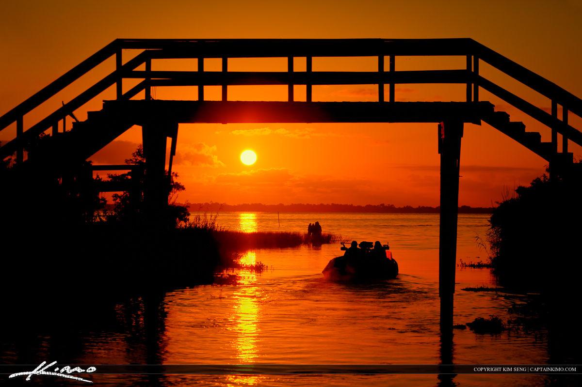 Early Morning Boat Ride at Blue Cypress Lake