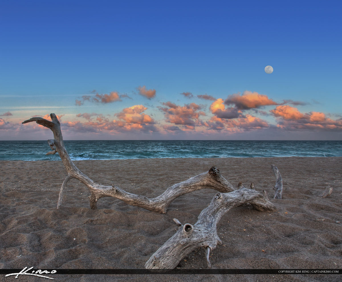 Moonrise at MacArthur Beach State Park