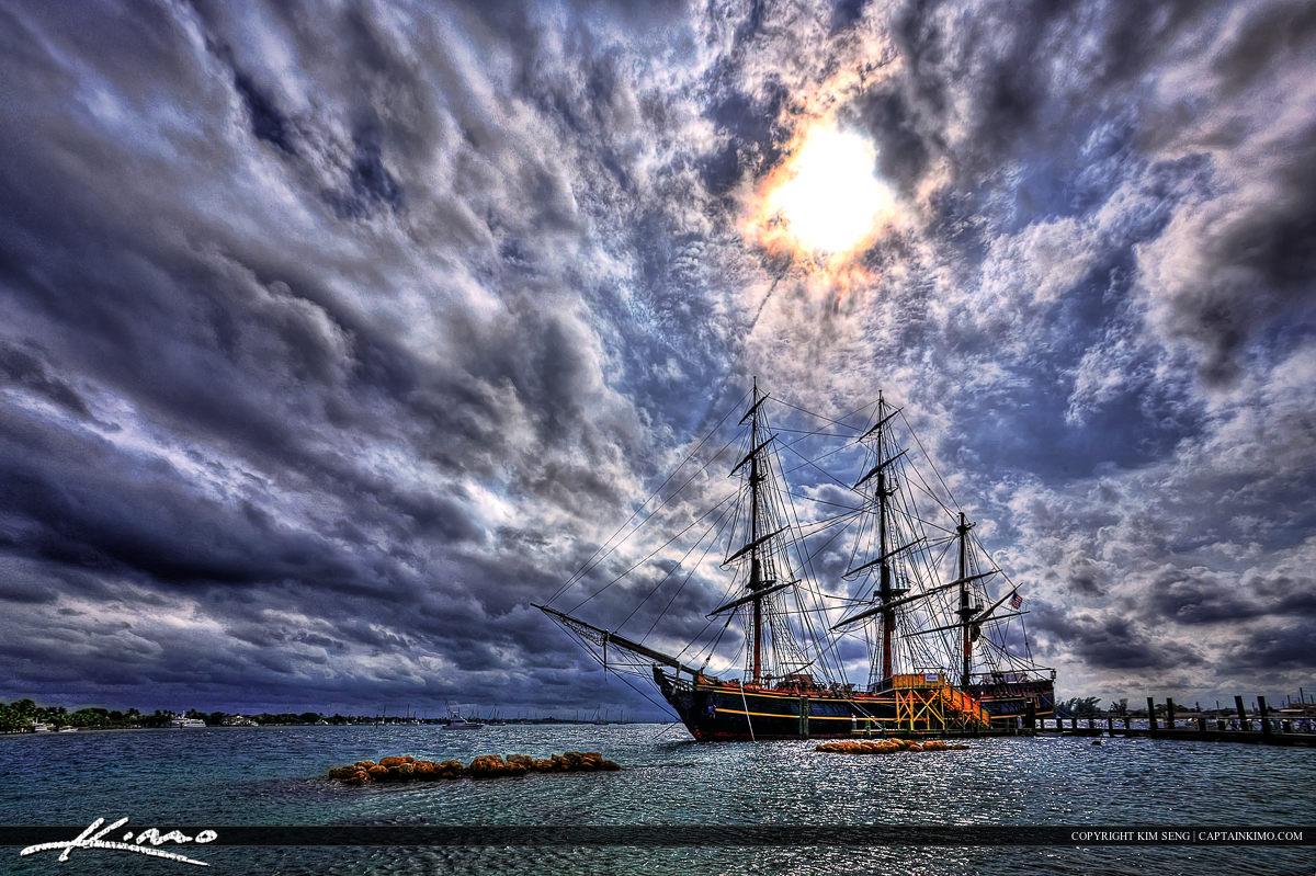 HMS Bounty Pirate Ship at Peanut Island Palm Beach County