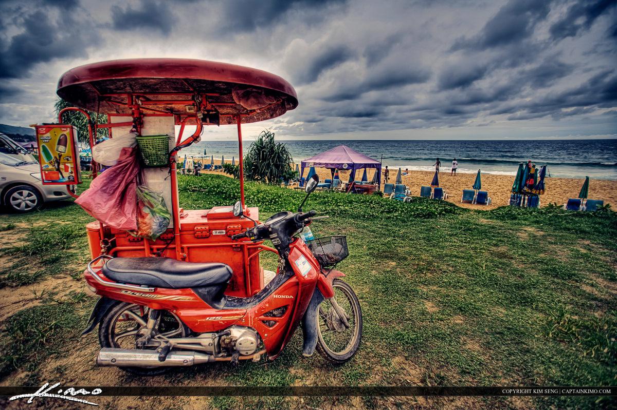Ice Cream Scooter Phuket Thailand at Beach