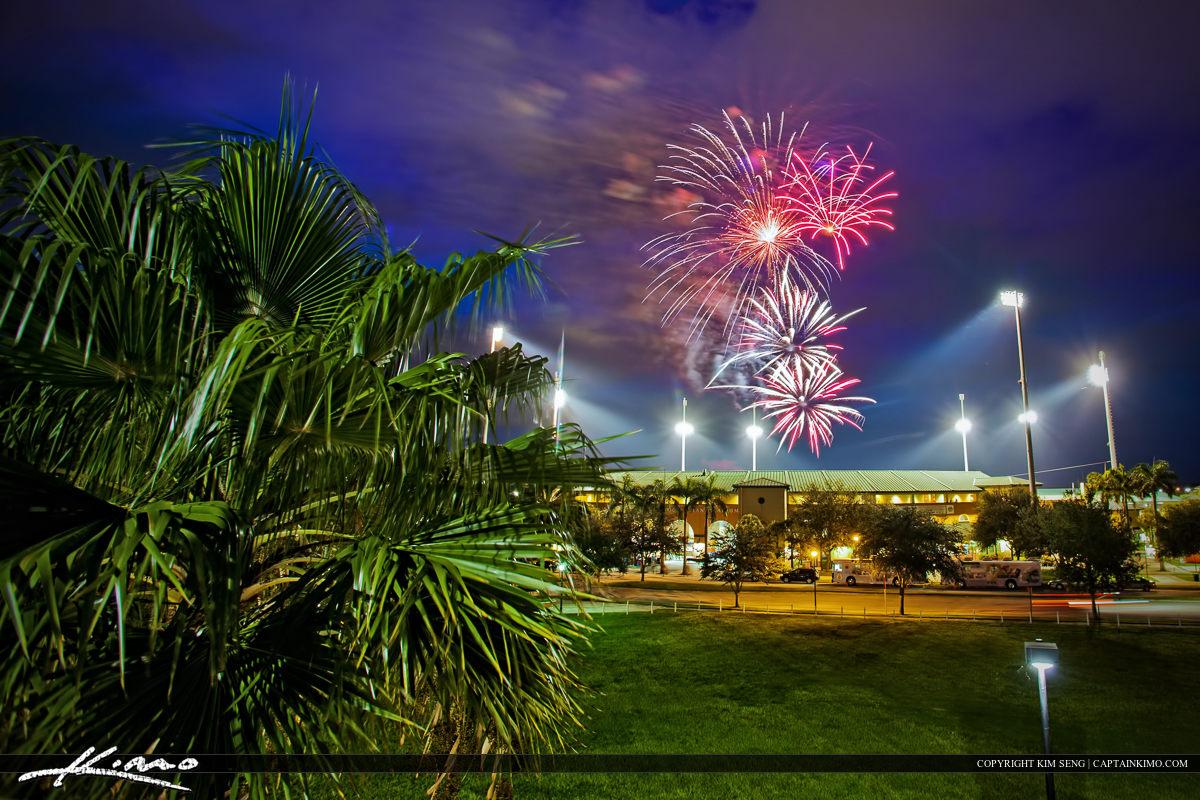 Roger Dean Stadium Fireworks After Baseball Game