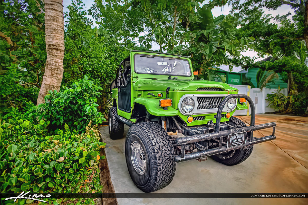 Toyota Green Monster Jeep Parked on Driveway