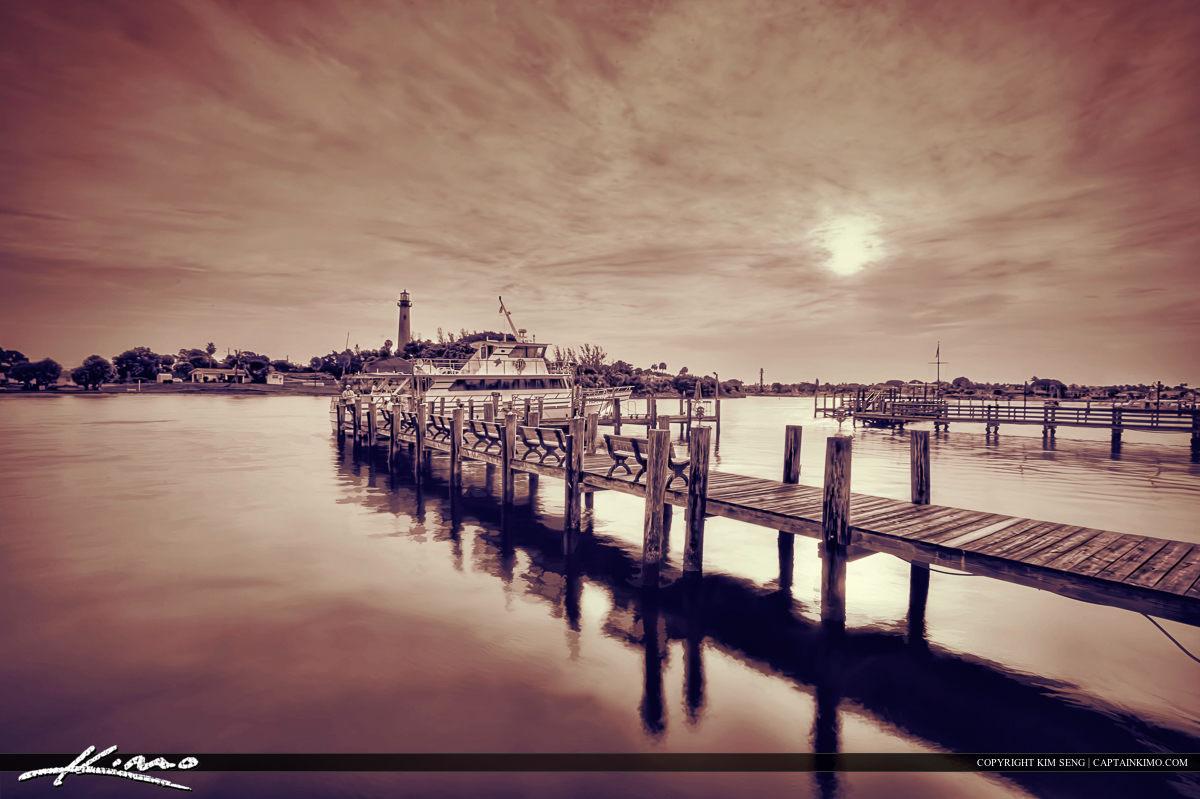 Jupiter Lighthouse Pier Intracoastal Waterway