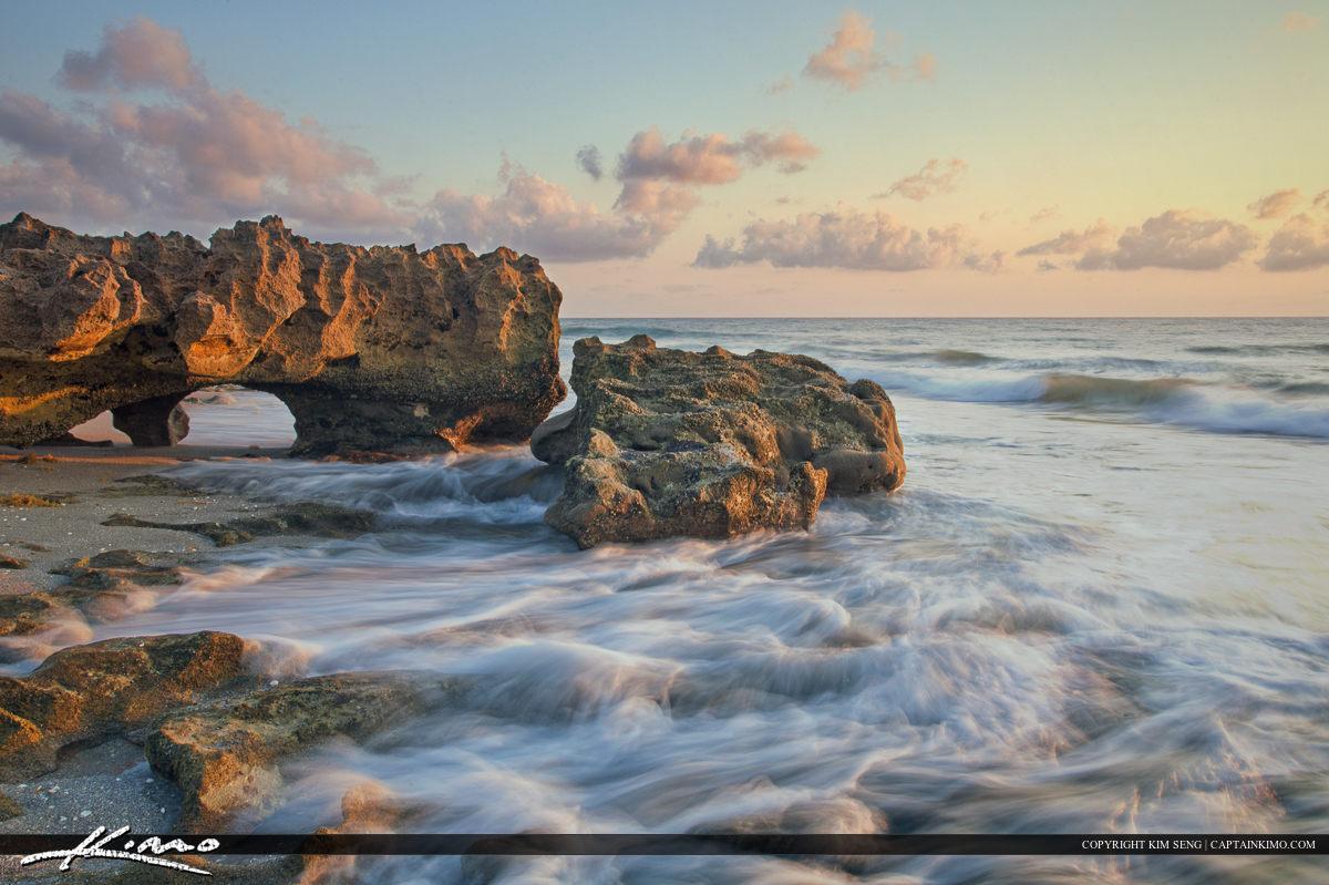 Coral Cove Park Jupiter Florida Ocean Wave Rock Profile