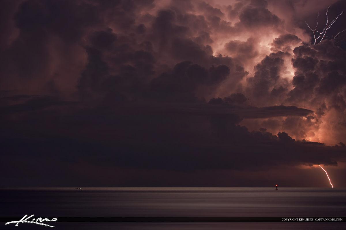 Lightning Storm Singer Island Florida Atlantic Ocean