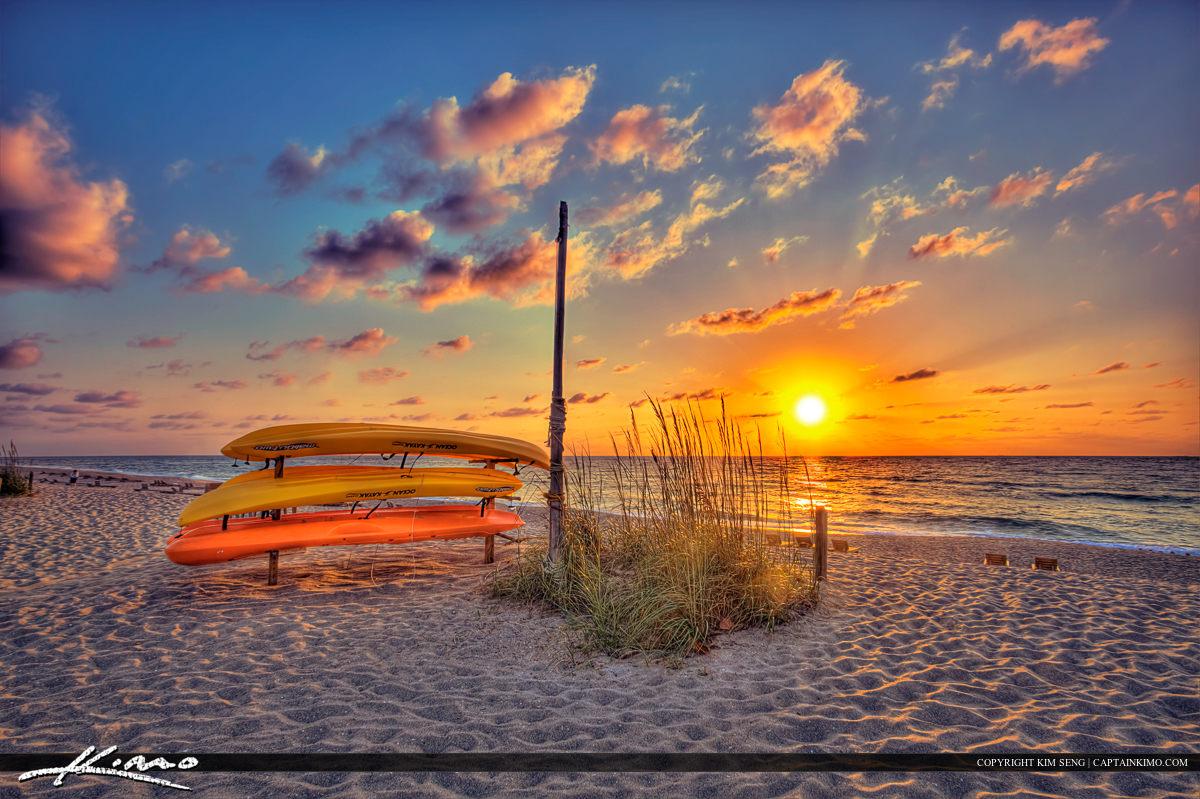 Kayak Rental Singer Island Beach Ocean Sunrise