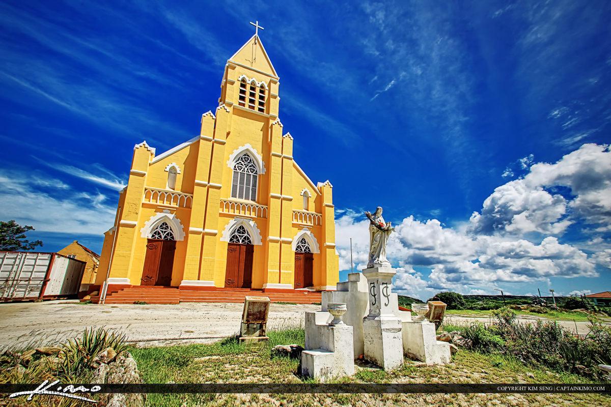 Orange Church Curacoa Island