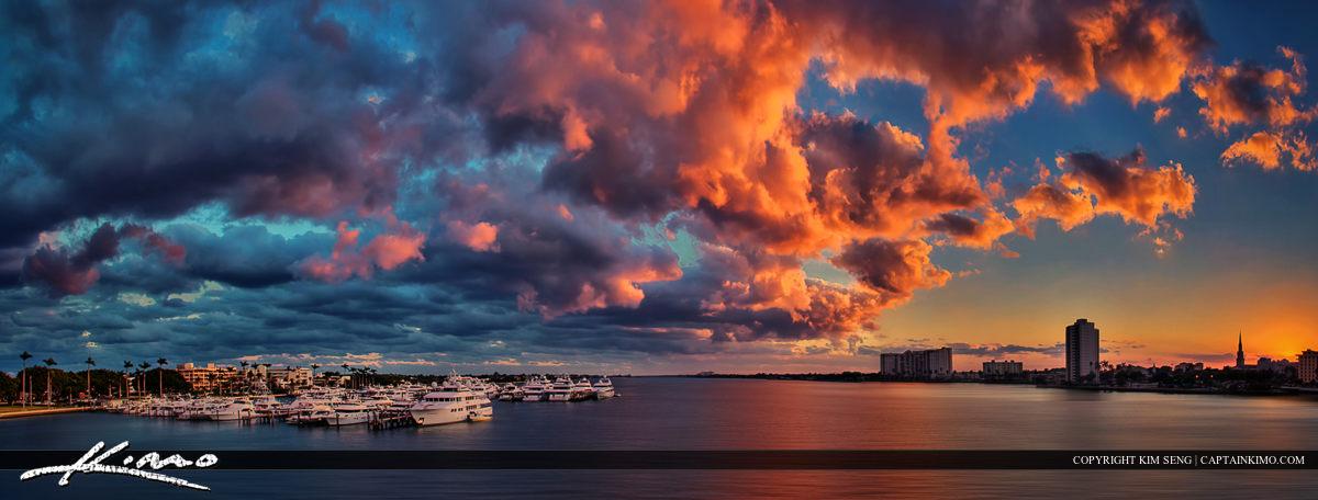 West Palm Beach Intracoastal Waterway Sunset Marina
