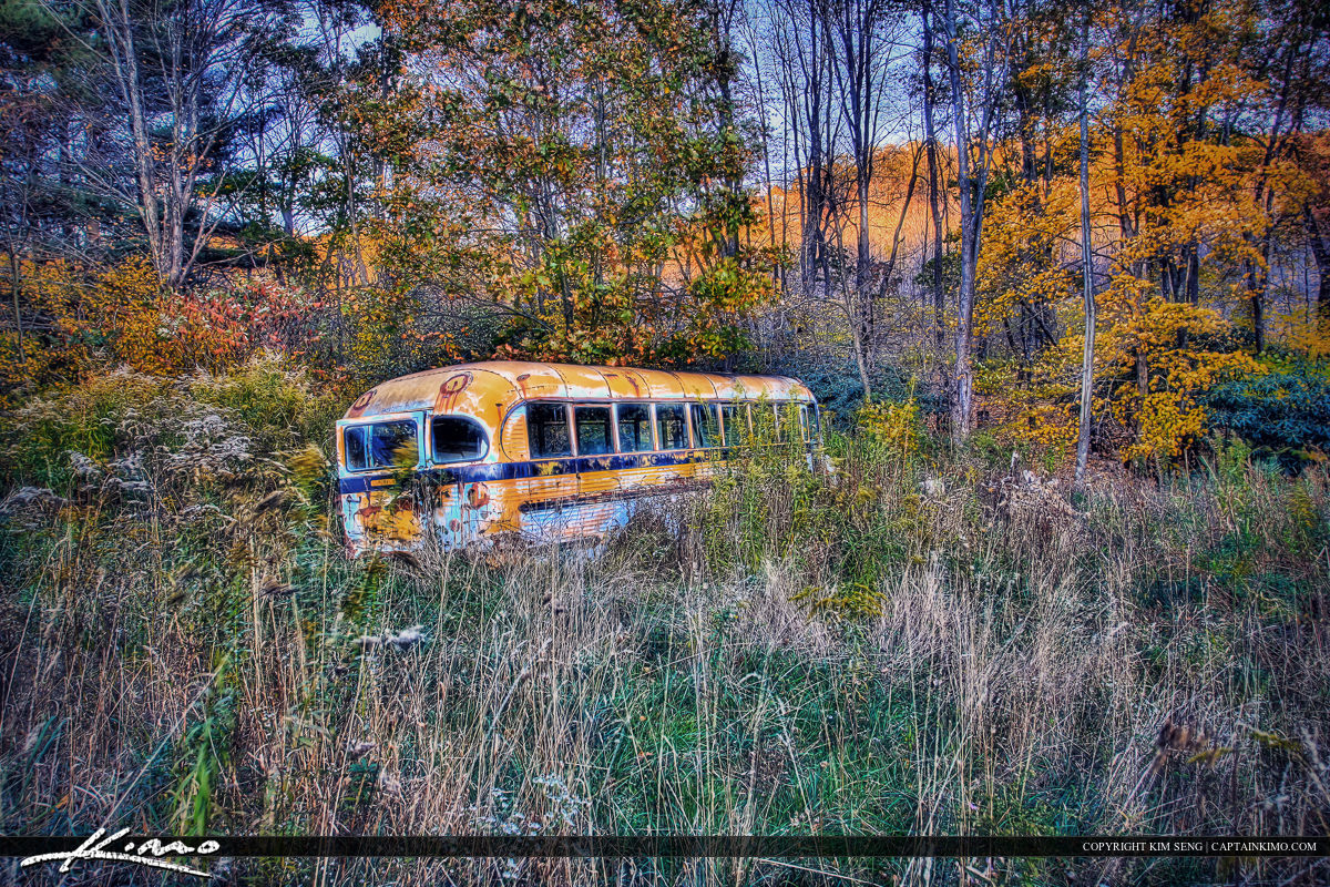 West Virgina Abandoned School Bus Country Side Road