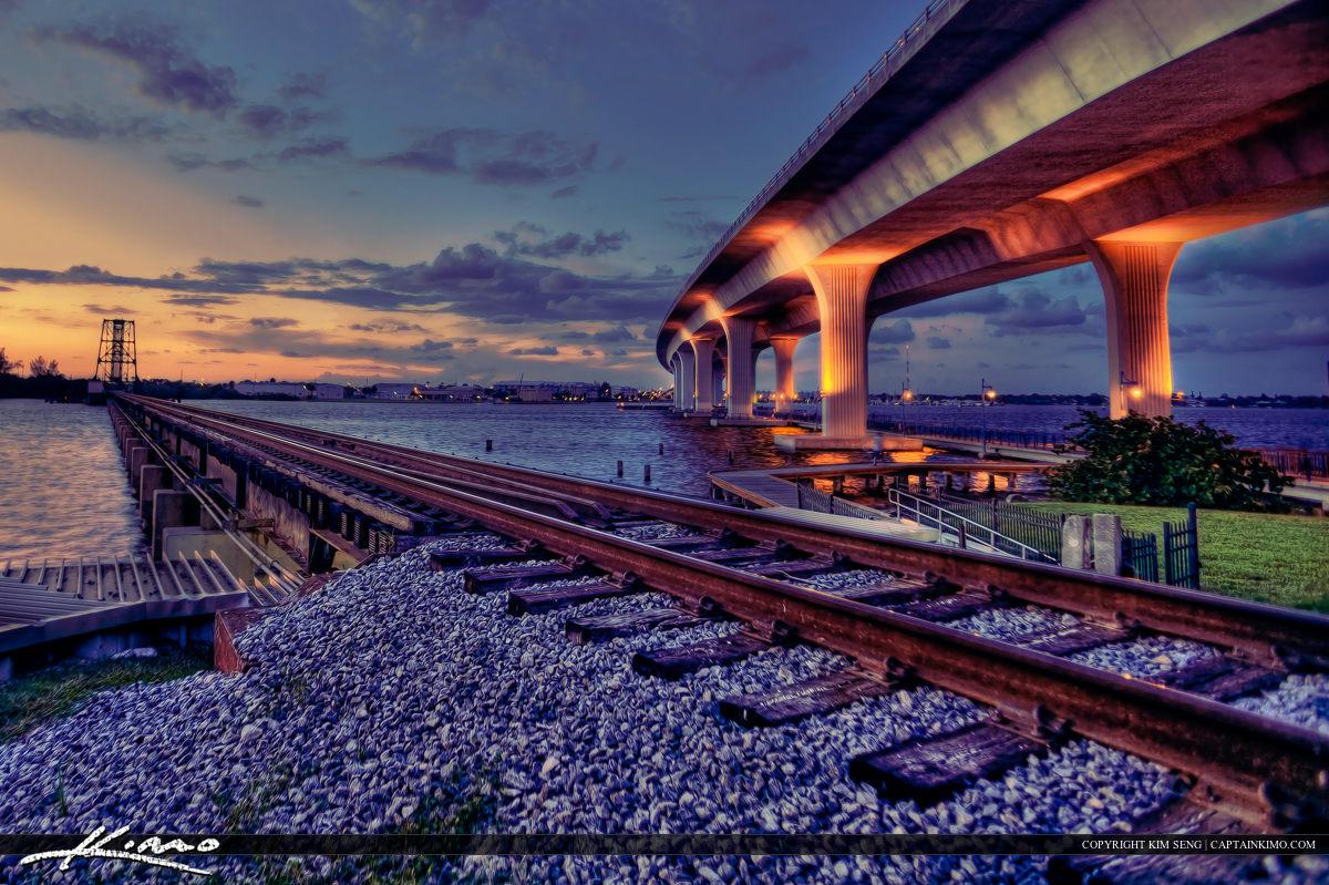 Roosevelt Bridge Stuart Florida Rail Road