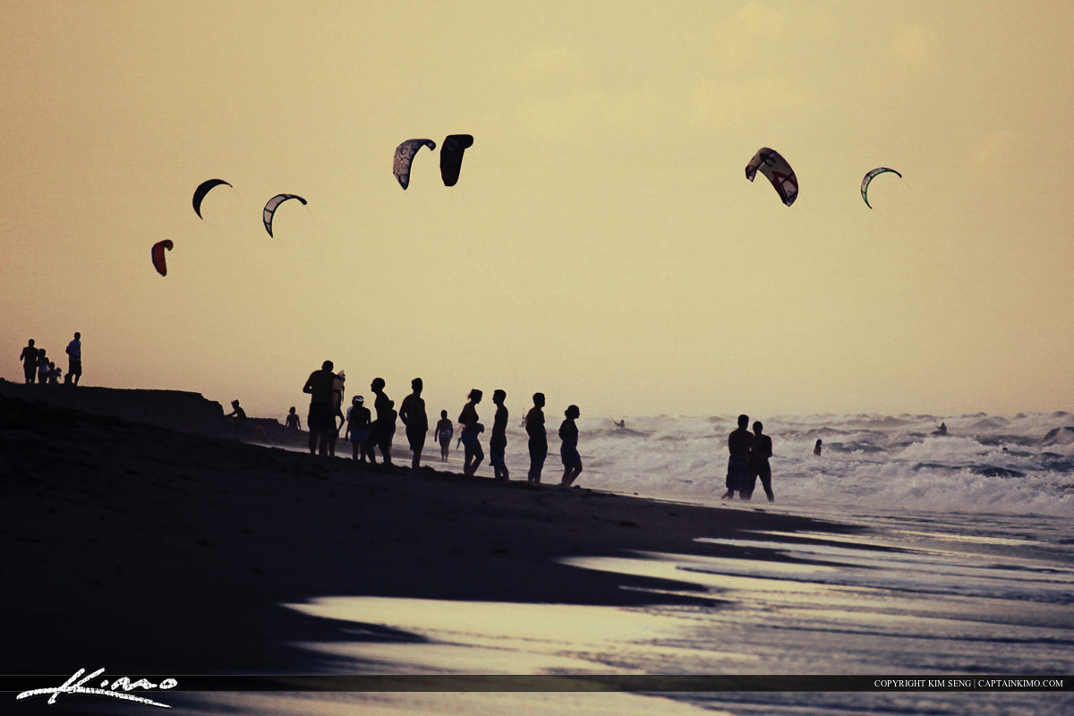 Windsurfers and People at Juno Beach