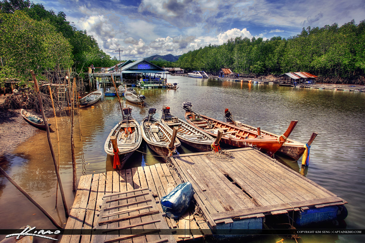Phuket Thailand Fishing Boats Local Boat Dock