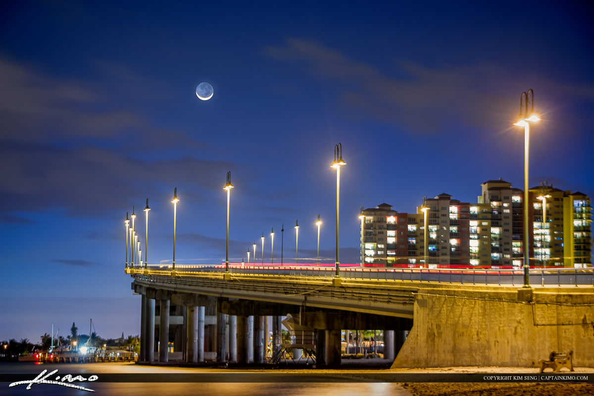 Moon Over Blue Heron Bridge