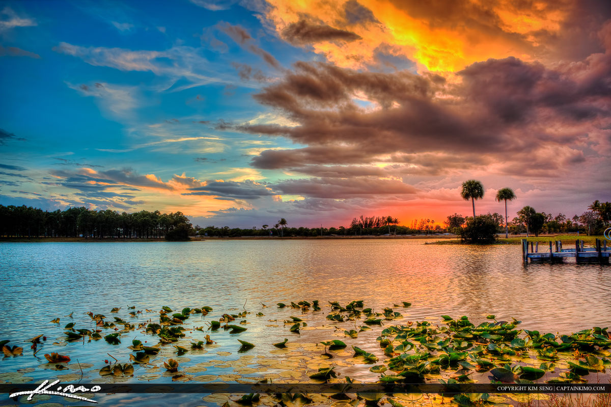 Okeeheelee Park Lake Sunset Storm Clearing