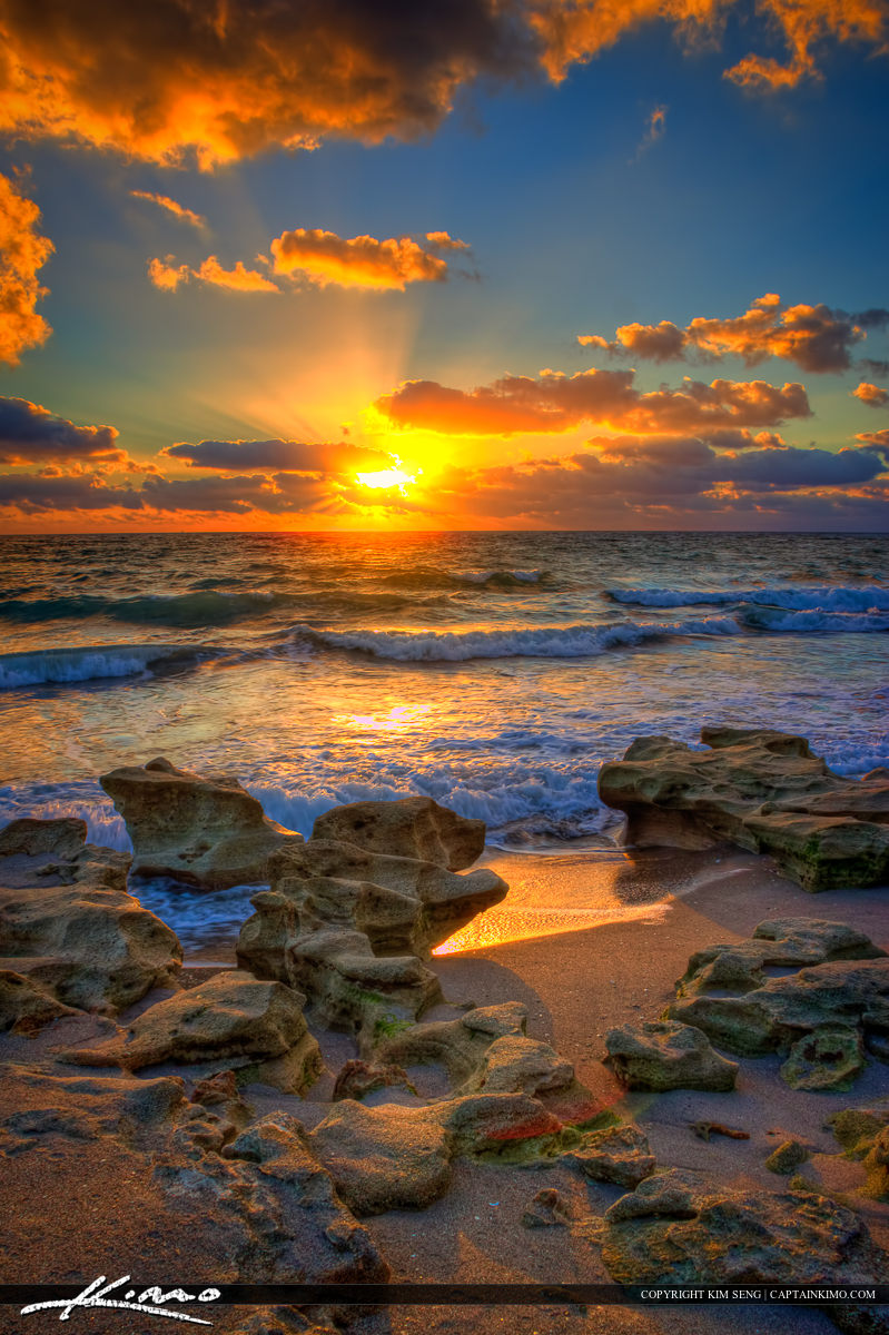 Beach Sunrise Vertical Photo Carlin Park