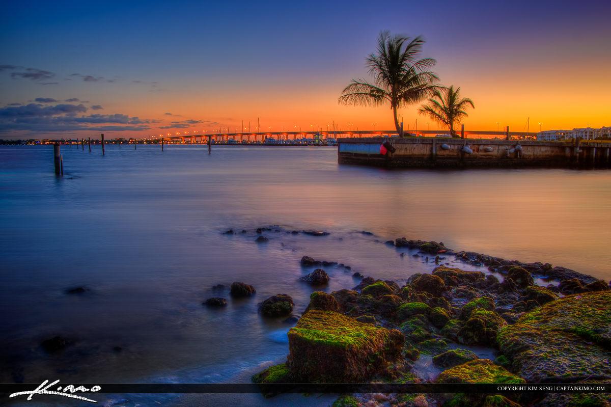 Roosevelt Bridge Jensen Beach Florida Sunset