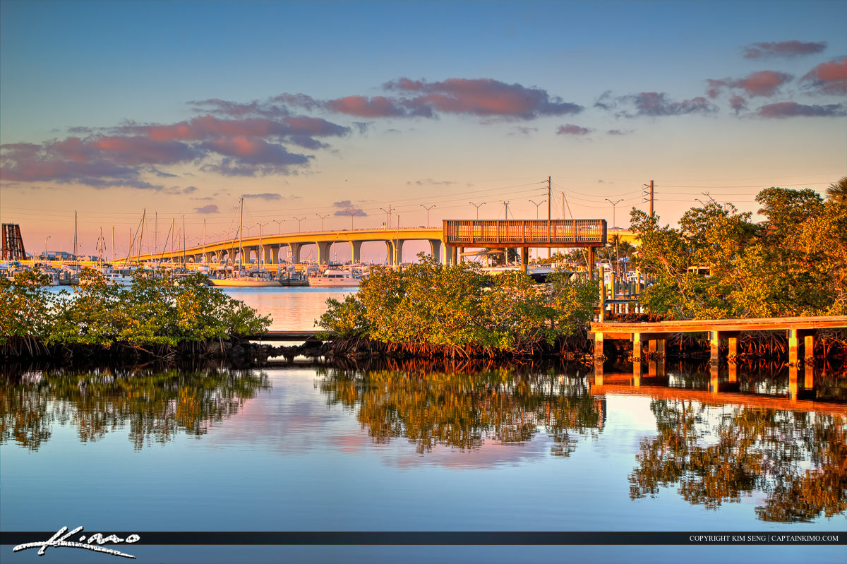 Roosevelt Bridge from Shepard Park Stuart Florida