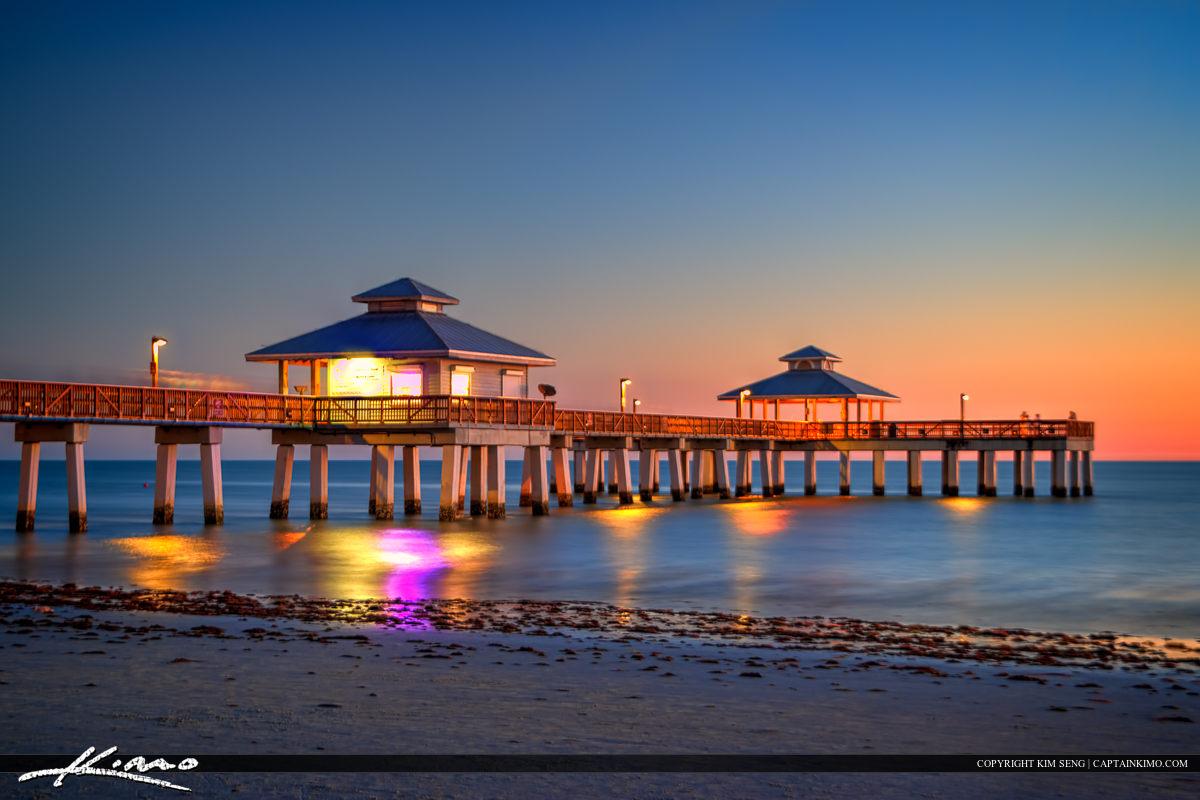 Fishing Pier Fort Myers Beach Sunset